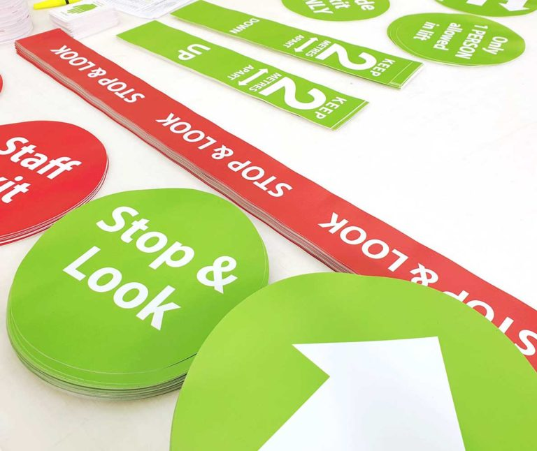 Anti slip printed floor stickers
